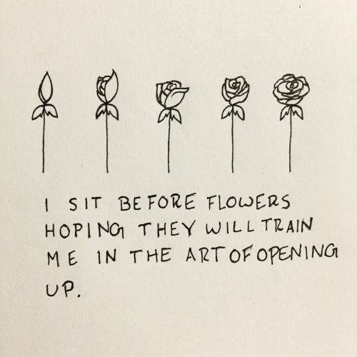 Friendship Quotes : I sit before flowers Hoping they will ...